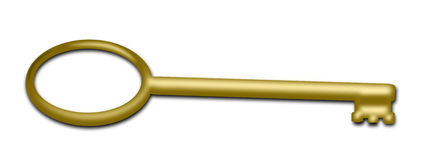 A golden Key Stock Photos