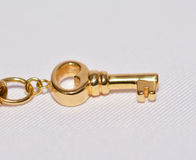 Golden key. Royalty Free Stock Photography