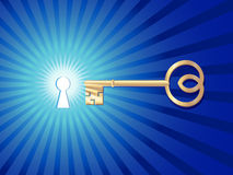 Keyhole with key Royalty Free Stock Image