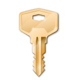 Golden key. Real estate concept.Vector illustration Royalty Free Stock Photos