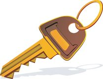 golden key with ring Stock Photography