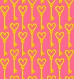 Golden key seamless vector pattern Royalty Free Stock Photos