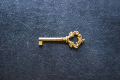 Golden key. stock photos
