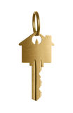 Golden key to a dream house Royalty Free Stock Image