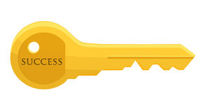 Golden key to success Royalty Free Stock Photos