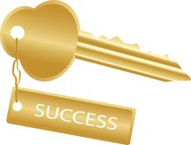 Golden key to success Royalty Free Stock Photo