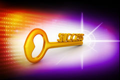 Golden Key to success Royalty Free Stock Image