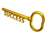 Golden key to success Royalty Free Stock Photos