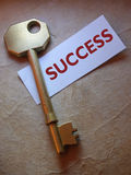 Golden key to success Stock Photography