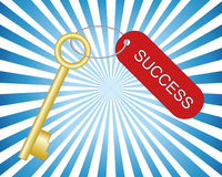 Golden key to success Stock Images