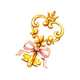 Golden Key Royalty Free Stock Photo