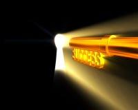 Golden Key006. 3d rendered golden key opening lock006 stock illustration