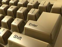 Golden keyboard. Golden PC keyboard Stock Image