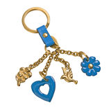 Golden keychain Royalty Free Stock Photo