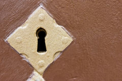 Golden keyhole Stock Image