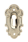 Golden keyhole isolated on white. With clipping path Royalty Free Stock Photos