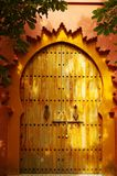 Golden keyhole shaped door