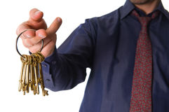 Golden Keys Royalty Free Stock Photos