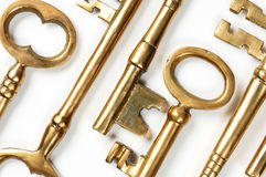 Golden Keys Abstract Background Stock Photo