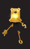 Golden Keys  background Stock Photo