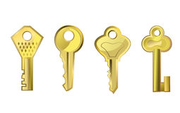 Golden keys Royalty Free Stock Photography