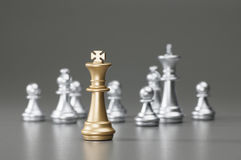 Golden King chess Royalty Free Stock Images