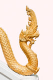 Golden king of naga. For background Stock Photos