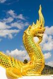 Golden king of Naga Royalty Free Stock Photos