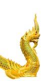 Golden king of Naga Royalty Free Stock Photo