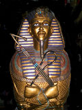 Golden King Tut Sarcophagus stock photos