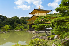 Golden Kinkaku-ji. Famous Golden Pavilion Kinkaku-ji in Kyoto Japan and its surrounding beautiful park Stock Photo