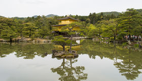 Golden Kinkaku-ji. Famous Golden Pavilion Kinkaku-ji in Kyoto Japan and its surrounding beautiful park Stock Photos