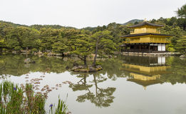 Golden Kinkaku-ji. Famous Golden Pavilion Kinkaku-ji in Kyoto Japan and its surrounding beautiful park Stock Photography