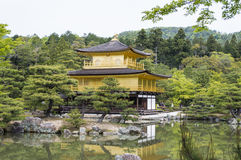 Golden Kinkaku-ji. Famous Golden Pavilion Kinkaku-ji in Kyoto Japan and its surrounding beautiful park Stock Images