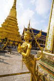Golden Kinnara in the Grand Palace in Bangkok Royalty Free Stock Photo