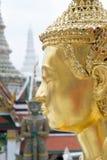 Golden kinnari bangkok grand palace thailand. Shooting in Wat Phra Sri Rattana Satsadaram Thailand Stock Photo