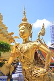 A Golden Kinnari, Bangkok, Thailand Stock Photos