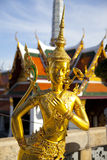 Golden kinnon (kinnaree) statue Royalty Free Stock Photo