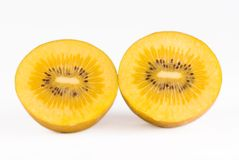 Golden kiwi fruit. On white background Royalty Free Stock Images