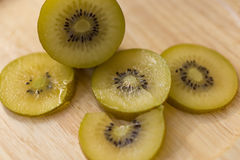 Golden Kiwi, Fruit for healty or diet people. Royalty Free Stock Photography
