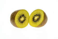 Golden Kiwi Fruit. From New Zealand, the kiwi fruit is a healthy food which is rich in vitamins Royalty Free Stock Image