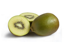 Golden kiwi fruit on white Royalty Free Stock Photography