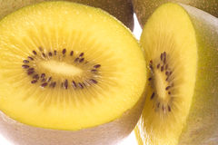 Golden Kiwi Fruits Macro Isolated Stock Photography
