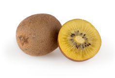 Golden kiwi  on white Stock Image