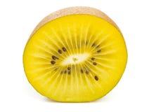 Golden kiwifruit/ kiwi half Stock Image