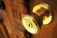 Golden knob Royalty Free Stock Image