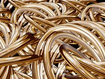 Golden knots Stock Image