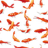 Golden koi fishes seamless vector print Stock Photography