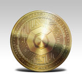 Golden komodo coin isolated on white background 3d rendering. Illustration Royalty Free Stock Photo