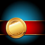 Golden label Stock Photos